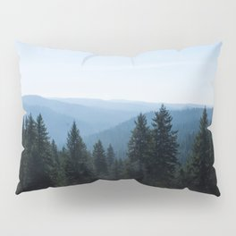 Scenic Tree Lined Valley Photography Print Pillow Sham