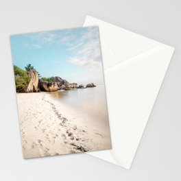 Paradise beach Anse Source d'Argent La Digue Seychelles  Stationery Cards