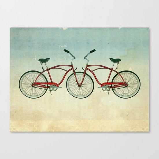 2 bikes 3 wheels Canvas Print