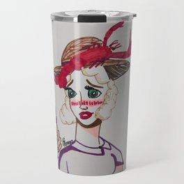 ~ Roasted Sunburned Lobster Girl ~ Travel Mug