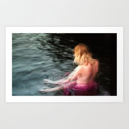 Sprite Soothes The Waters Art Print