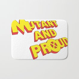 Mutant and Proud (old x-men logo style) Bath Mat