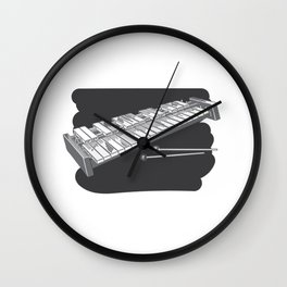 Xylophone Musical Instrument Wall Clock
