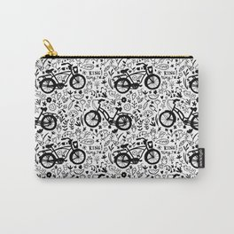 Lovely bikes in black and white Carry-All Pouch