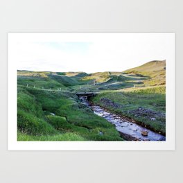 The Sheep Bridge Art Print