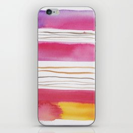 19   |181026 Lines & Color Block | Watercolor Abstract | Modern Watercolor Art iPhone Skin
