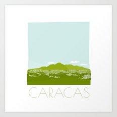 Caracas City by Friztin Art Print