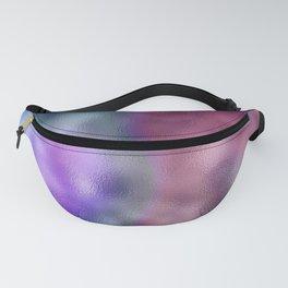Mottled Ombre Purple Aqua Foil Fanny Pack