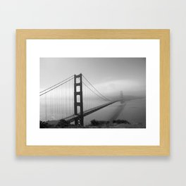 The Golden Gate Bridge In A Mist Framed Art Print