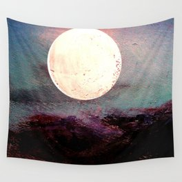 Tonight, I Am Dreaming That We Can Sleep Under The Same Moon. Wall Tapestry