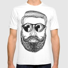 MENSUNGLASSES SMALL White Mens Fitted Tee