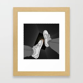 FALLING INTO THE SPACE Framed Art Print