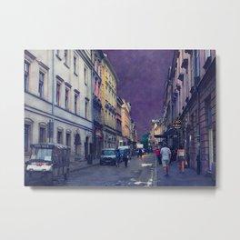 Cracow Slawkowska street #cracow #krakow Metal Print