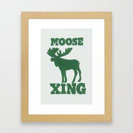 Moose Xing Framed Art Print