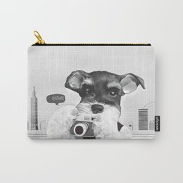 Schnauzer with Camera Carry-All Pouch