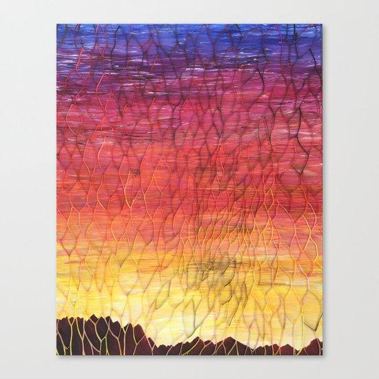 Desert Sunset Pattern Canvas Print