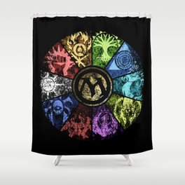 Magic the Gathering - Faded Guild Wheel Shower Curtain