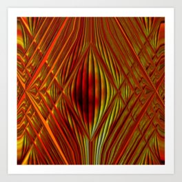 Glass with fire Art Print
