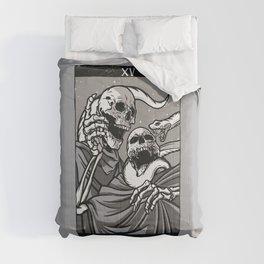 Skeleton Tarot Devil Comforters