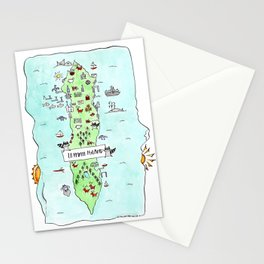 Lummi Island Map Stationery Cards