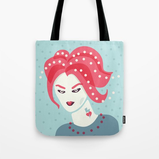 Portrait Of A Girl With Pink Hair Tote Bag