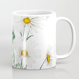 white Margaret daisy watercolor Coffee Mug