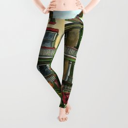 Victorian Eclectic with Spring Tulips Leggings