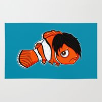 finding nemo Area & Throw Rugs featuring Finding Emo by Chris Piascik