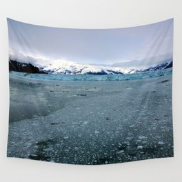 Alaska Hubbard Glacier Floating Blue Ice Wall Tapestry