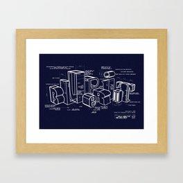 Blueprint Framed Art Print