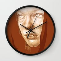 fifth element Wall Clocks featuring The Fifth Element by Doruktan Turan