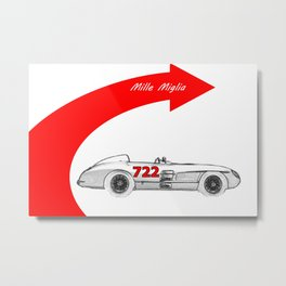 RennSport Speed Series: Mille Miglia Metal Print
