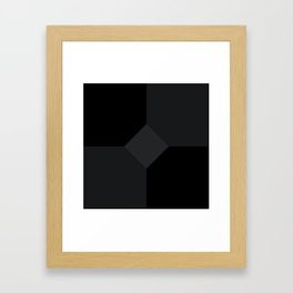 Simply Black on Black Framed Art Print