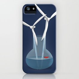 Don't forget to water your wind turbines iPhone Case