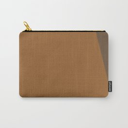 Two-Tones of Brown Carry-All Pouch