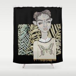Butterfly Lies Shower Curtain