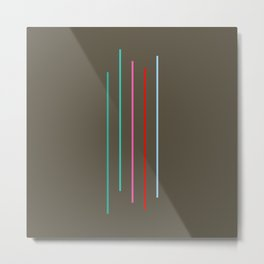 Five Minimal Abstract Colorful Stripes 05 Metal Print