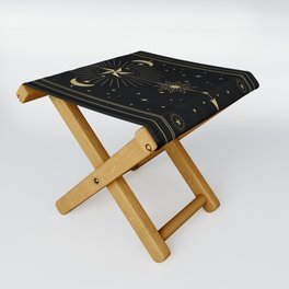 L'Etoile or The Star Tarot Gold Folding Stool