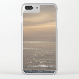 Shimmering Ocean Sunset Clear iPhone Case