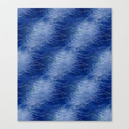 Wind-whipped Vines (blue) Canvas Print
