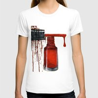 nail polish T-shirts featuring Polish by KaylaMessies