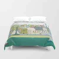 barcelona Duvet Covers featuring Barcelona by LaPendeja