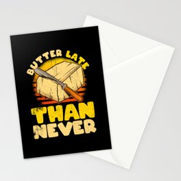 Funny Food Butter Design Pun Stationery Cards