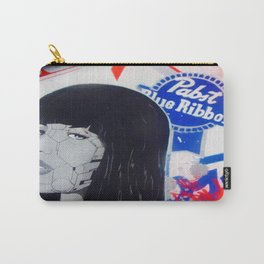 pabst blue ribbon robot lady 2 Carry-All Pouch