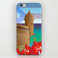 puerto rico iPhone & iPod Skins featuring Puerto Rico by PADMA DESIGNS PR