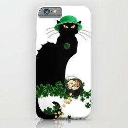 Le Chat Noir - St Patrick's Day iPhone Case