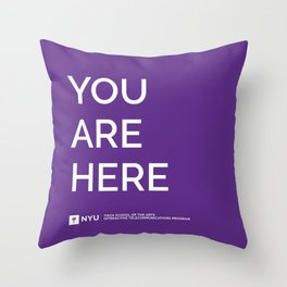 YOU ARE HERE [Gotham Violet] Throw Pillow