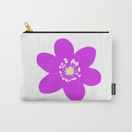 Flower Anemone Hepatica Red Carry-All Pouch