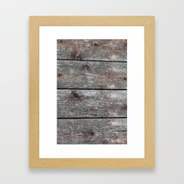 Grainy Wood II Portrait Framed Art Print