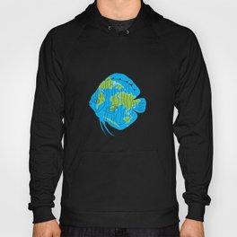 earth blue planet fish Hoody